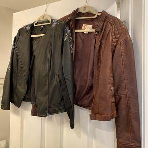G By Giuliana Leather Jacket + second jacket